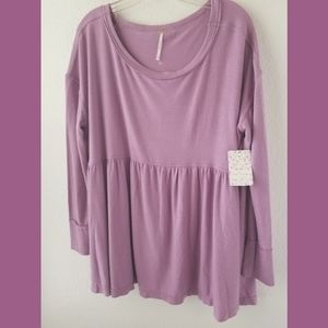 Free People NWT Forever Your Girl Babydoll Top Lg